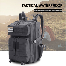 Military Tactical Waterproof Backpack Outdoor Molle Bag 45L Men Male Army Assault Attack Bagpack Hiking Camping Mountaineering цена