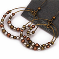 new Hot Selling Brand Bohemia Beads Vintage Gold Disc Large Earrings brincos