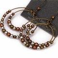 Nueva Marca de Venta Caliente Disco de Oro Grandes Pendientes de Perlas de Bohemia de La Vendimia brincos