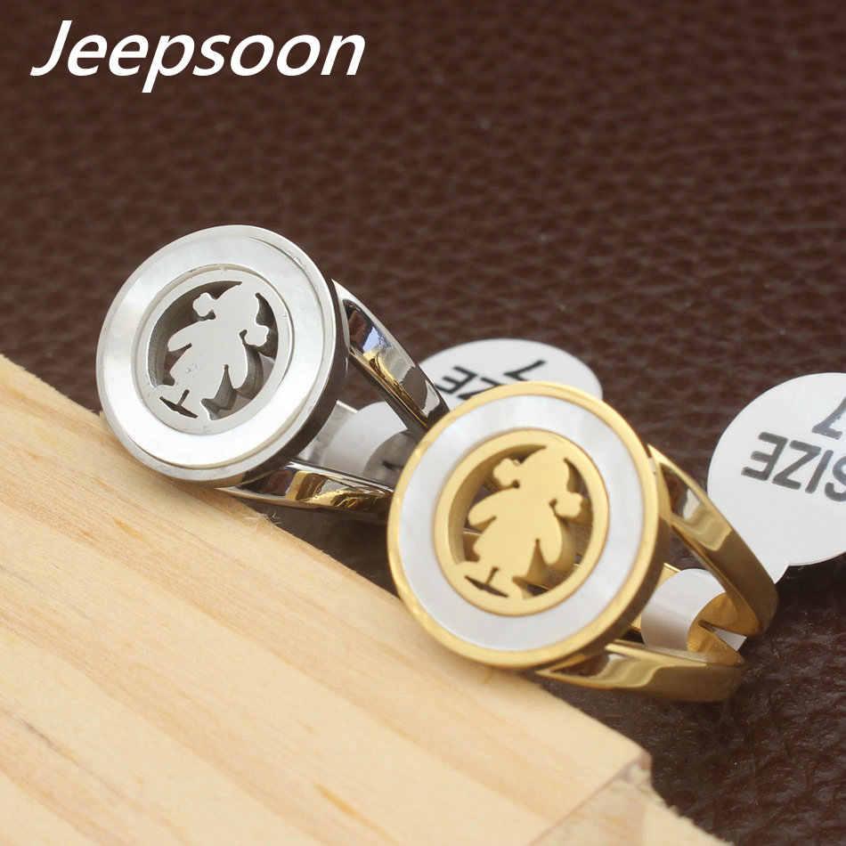 Sıcak toptan yeni moda takı paslanmaz çelik altın rengi ve gümüş renk üstün kalite yüzükler kadınlar için hediye RBJFCWBG