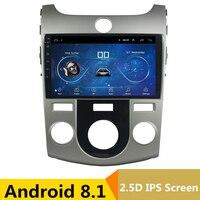 9 2.5D IPS Android 8,1 DVD мультимедиа плеер gps для KIA Forte Cerato 2008 2009 2010 2012 аудио автомобилей Радио стерео навигации