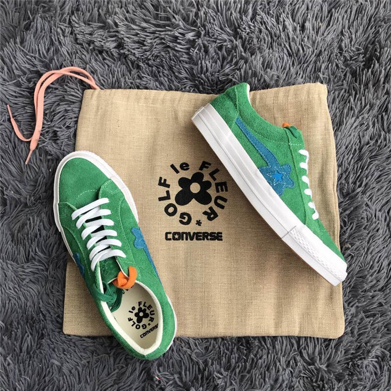 2018CONVERSE ONE STAR X Golf le fleur TTC shoes men and women classic sneakers low Unisex canvas Skateboarding Shoes 36-44 new converse chuck taylor all star ii low men women s sneakers canvas shoes classic pure color skateboarding shoes 150149c