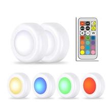 RGB 12 Цветов LED Dimmer Night Light Controller Шайба Лампы Затемнения Pat LED Для Шкафа Закрыть