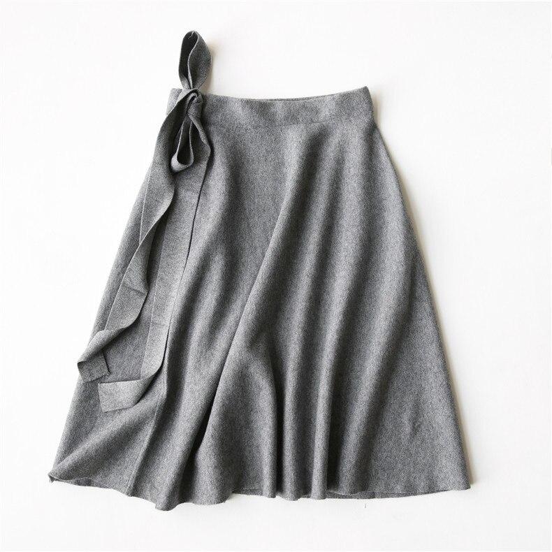 caqui Midi Negro Oficina Arco gris Con Las Punto Cintura Alta Moda Estiramiento Thernal Blue Falda Para Caliente Damas Paraguas Mujeres Navy Faldas Gris wqx4XSBfF4
