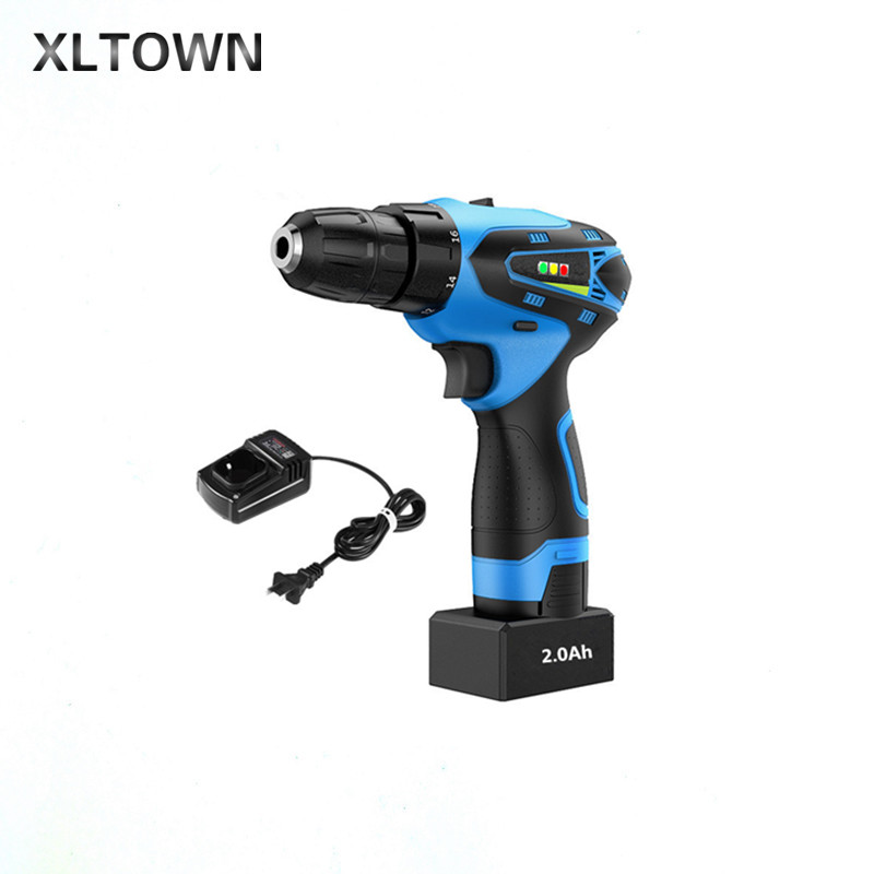 XLTWON 25V 2000 Ma Electric Screwdriver Multifunction Lithium Battery Electric Drill Charging Household Cordless Electric Drill 25v cordless electric drill lithium battery cordless screwdriver double speed electric screwdriver household electric tools