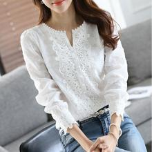 Women New Arrival Spring Basic Chiffon Blouse Shirt