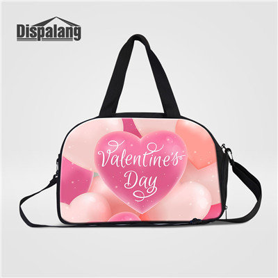 White Background Pink Orange Cactus Large Travel Duffel Bag For Women Men Overnight Weekend Lightweight Luggage Bag
