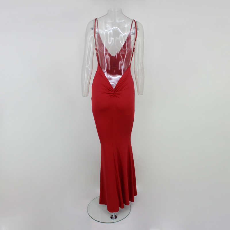 ... Yissang Sexy Elegant Club Maxi Dresses Women Solid Birthday V Neck  Party Long Dress 2018 Femme ... bd95a4c8b464