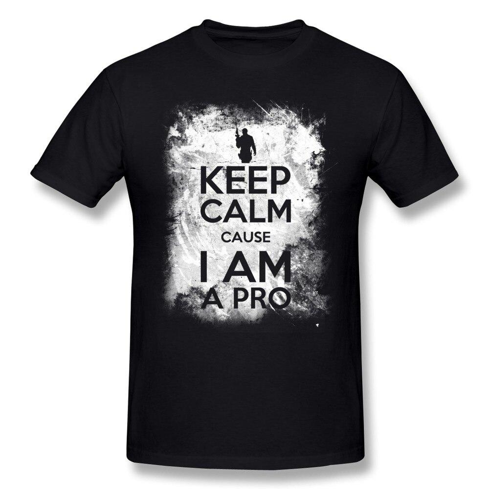 T shirt design keep calm - Aliexpress Com Buy Screw Neck Casual Keep Calm Cause I Am A Pro Men S T Shirt Cheap 100 Cotton Shirt For Boys From Reliable Shirt Satin Suppliers On U