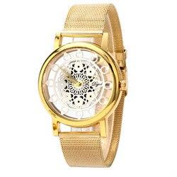 Mulher Senhoras Phoenix Mecânico Automático do Relógio de Pulso de Aço Inoxidável relógios de Pulso Moda Oca-out