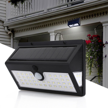 Wall Light Walkway Lights Fence Induction 44LED Solar Durable Street Lamp Eco-Friendly Home