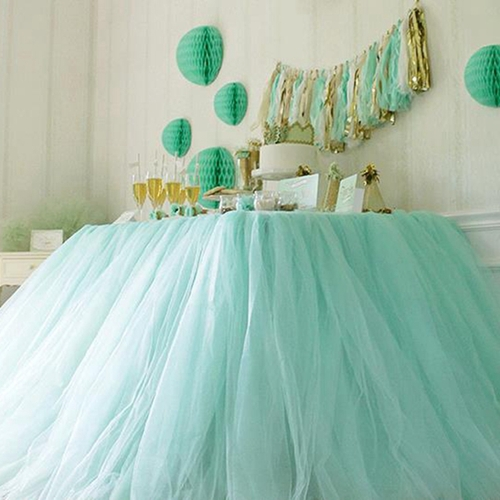 Buy free shipping 22mx15cm roll crystal for Baby shower tulle decoration ideas
