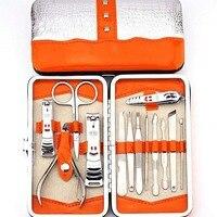 13 stück Nagelkunstwerkzeuge Maniküre-set mit Häutchen Clipper Ohr Abholen Tote Haut Gabel Nägel Datei Pflege Kits
