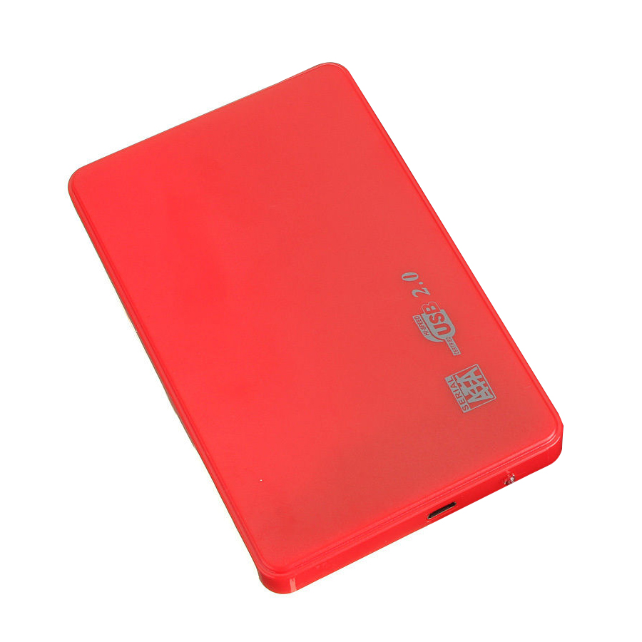 SATA USB 2.0 SATA 2.5 HD HDD HARD DISK DRIVE ENCLOSURE EXTERNAL CASE BOX red