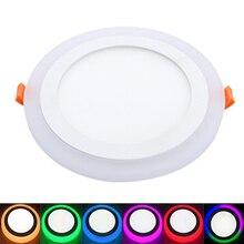 5PCS LED panel light Round Square Recessed Lamp AC85V-260V 3W6W12W18W RGB Dual Color Light Ceiling Downlight Spot