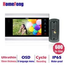 Homefong Buy  Monitor Get Doorbell  7 Inch Color LCD Video Door Phone Intercom System Door Release Unlock Doorbell Camera Free