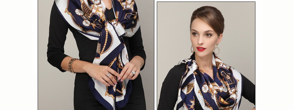 7b7eb5e547fd9 Fashion Royal Style Blue Pink Silk Scarf New Europe America Brand Large  Square Scarves Luxury Hot Stamping Women Scarf ShawlUSD 38.99 piece