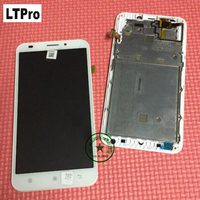 Wholesale TOP Quality White Full LCD Display Touch Screen Digitizer Assembly With Frame For Lenovo A916