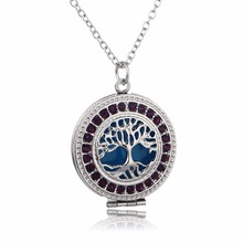 2016 Trendy Essential Oil Diffuser Perfume Locket with Rainstore Aromatherapy Luminouse Jewelry Floating LocketS Necklace