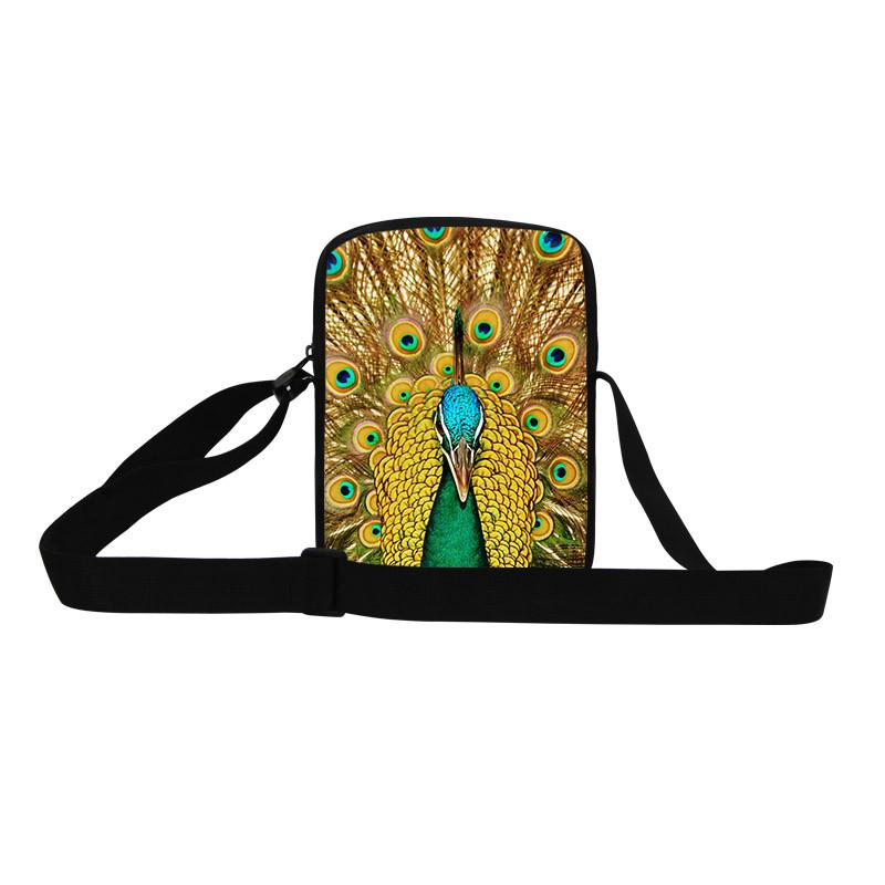 Peacock shoulder bag messenger bag