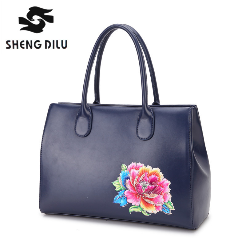 Luxury Genuine Leather Bags Female Bags Famous Brand Women Leather Handbags Messenger Bag Zipper Ladies Tote Printing Bag bolsos luxury famous brand women female ladies casual bags leather hello kitty handbags shoulder tote bag bolsas femininas couro