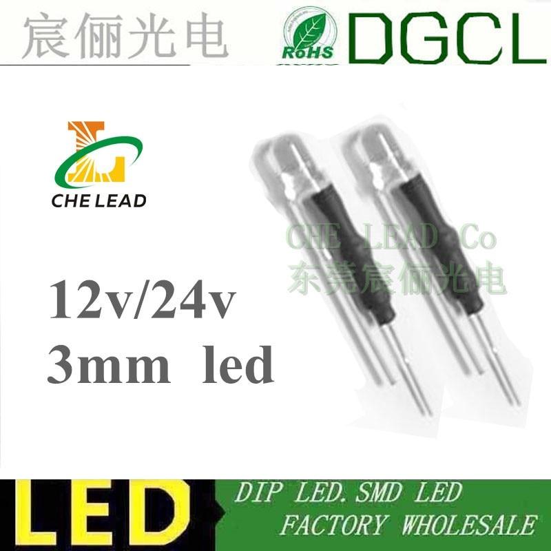 3mm Pink LED bulb light diode 100 pcs