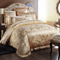 Svetanya Tan jacquard Quilt cover set Queen King Size Bedclothes Tencel Cotton blend Fabric luxuries Bedding sets