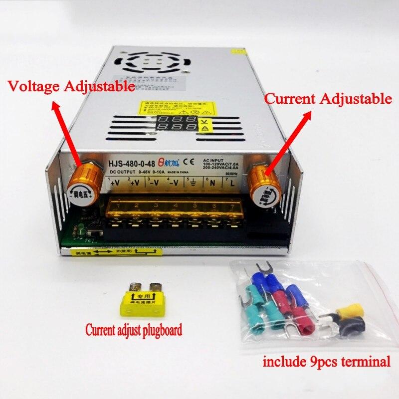 AC-DC Converter Digital display current Voltage adjustable Switch regulated power supply DC 12V 24v 36v 48v 60v 80v 120v 480W-1