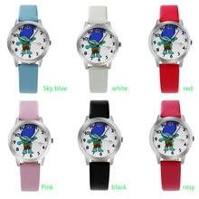 2017 Детский подарок перерыв часы Для мужчин Творческий Дизайн наручные часы кожаный ремешок спортивные Повседневное модные Повседневные часы