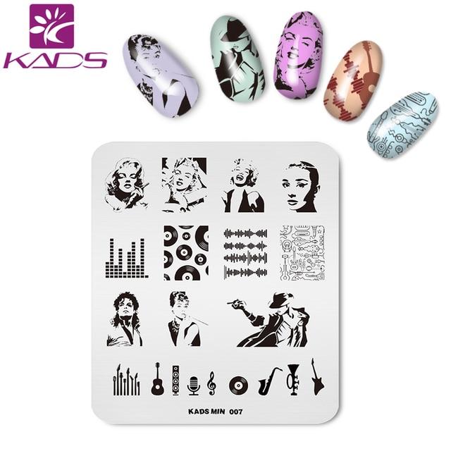 Kads Musik Nail Art Stamping Stempel Monroe Hepburn Michael