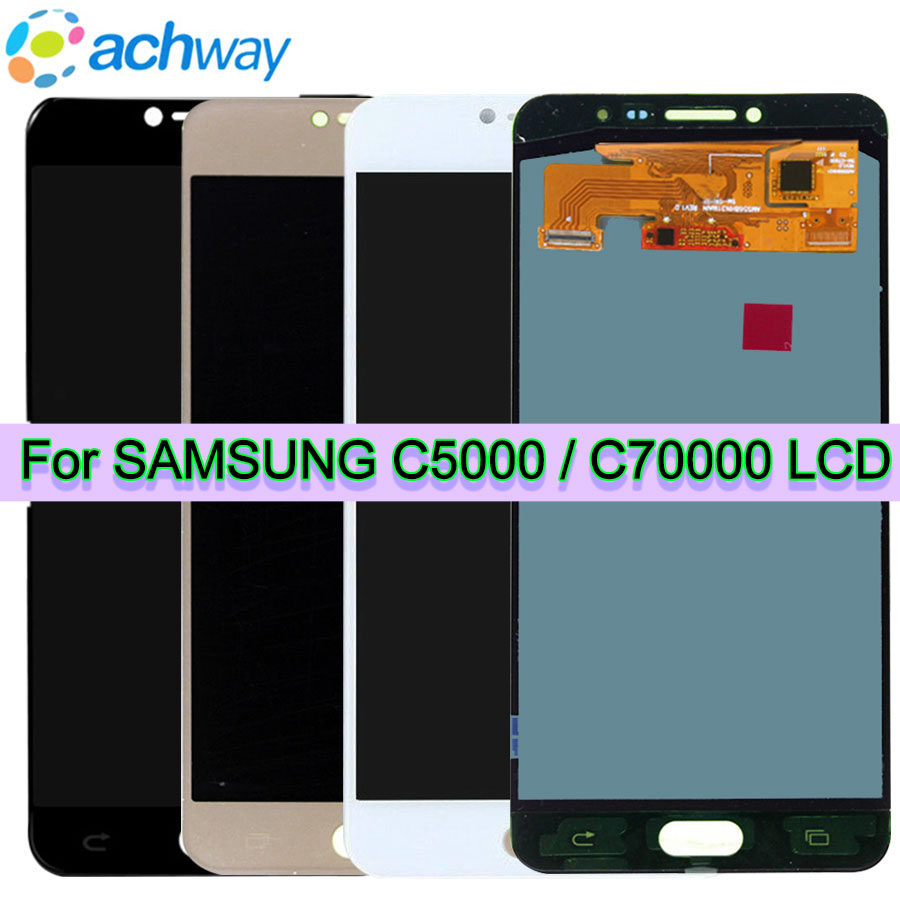 Original 5.7 AMOLED C7000 LCD Replacement for SAMSUNG Galaxy C7 LCD Display C5000 Touch Screen Digitizer Assembly SM-C7000 C5Original 5.7 AMOLED C7000 LCD Replacement for SAMSUNG Galaxy C7 LCD Display C5000 Touch Screen Digitizer Assembly SM-C7000 C5
