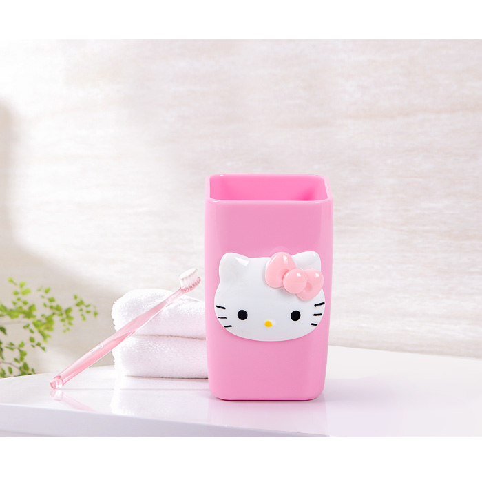 Hello Kitty Couples Cup Toothbrush Holder Bathroom Accessories Household Mouthwash Travel Cups