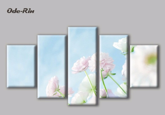 ode rin modern simple canvas decorative painting blue flowers