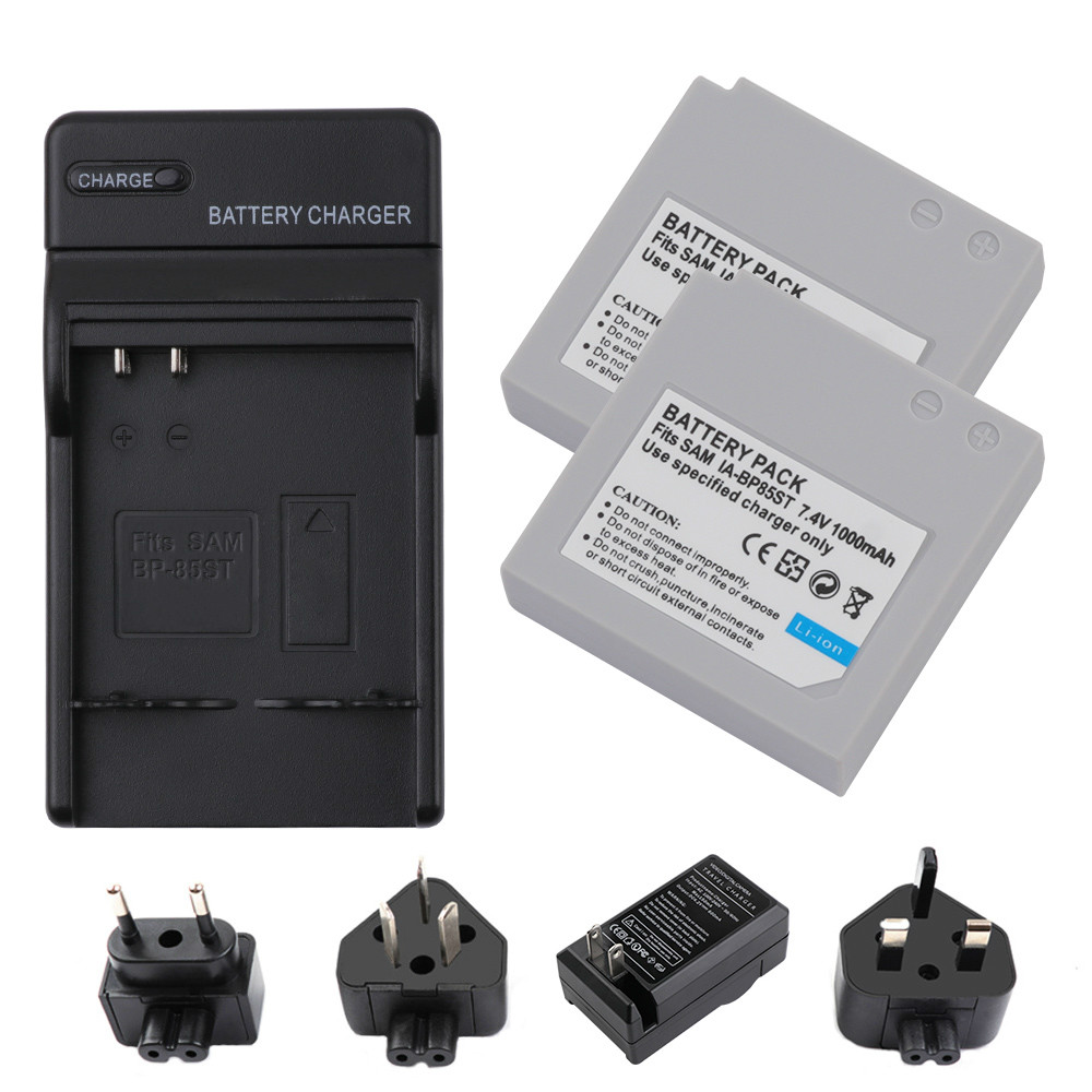Battery-Charger Li-Ion-Battery IA-BP85ST Samsung with LED for Vp-mx10/Smx-f30/Smx-f33/L20