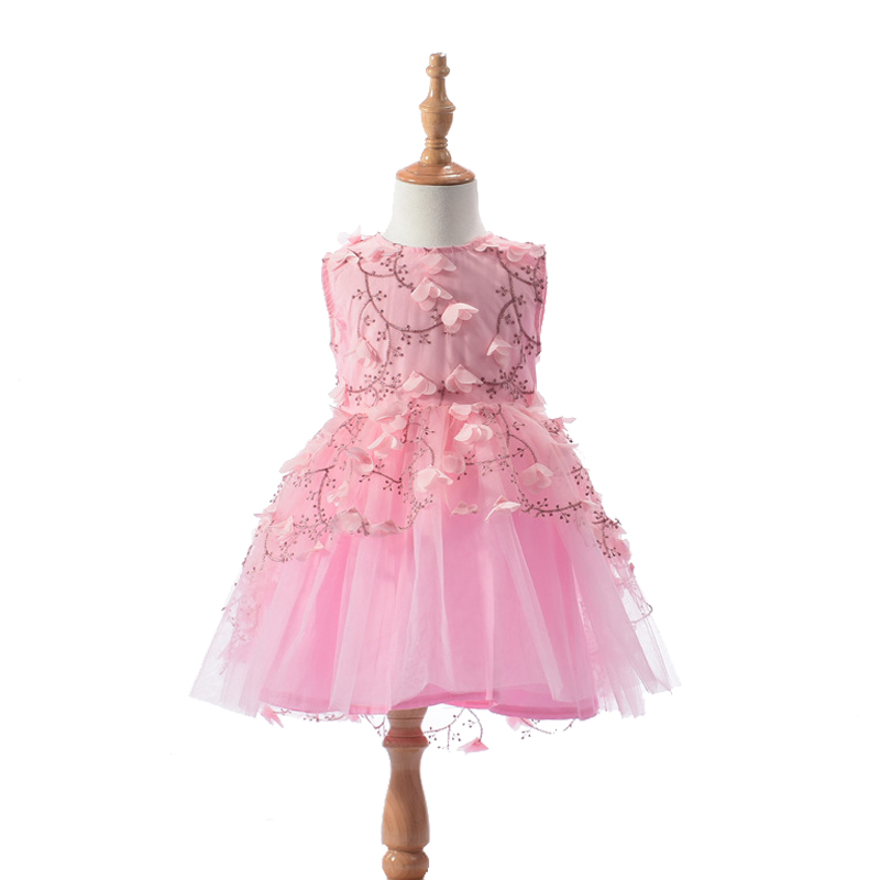 Baby Girls Kids Clothes Children Flower Dress New Brand Baby Girl Clothes Princess Girls Party Dresses vestidos infantis 2016 brand cute girls clothes summer children dresses plaid casual princess dress girls vestidos 10 old roupas infantis menina