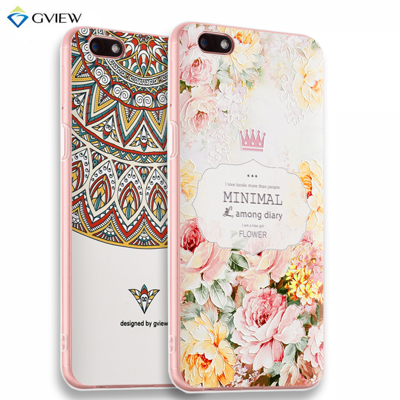 super popular eedf9 9df7d US $10.4 |Gview 3D Relief Printing Clear Soft TPU Case For OPPO A77 Phone  Back Cover Ultra thin Shell Free Ring Holder Film For OPPO F3-in Fitted ...