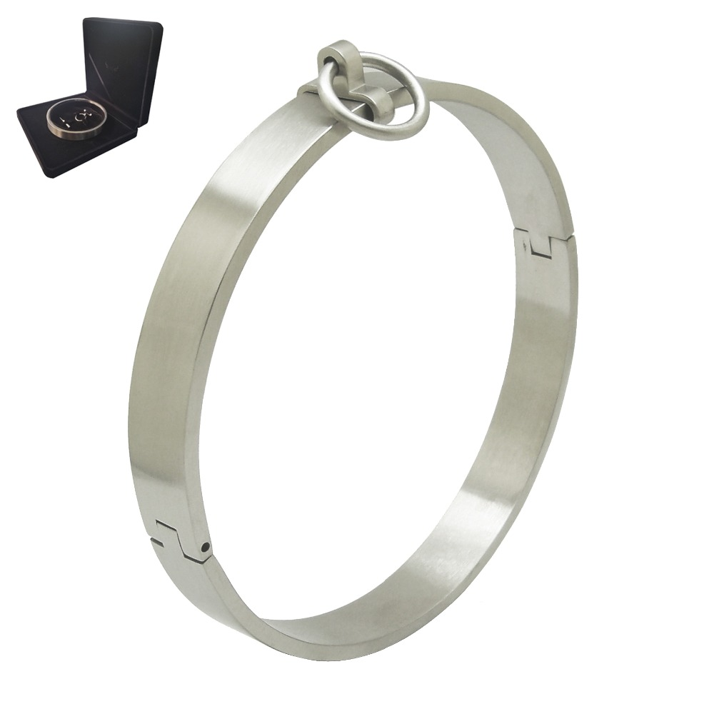 Stainless steel lockable slave collar torque neck choker necklace bondage sets jewelry