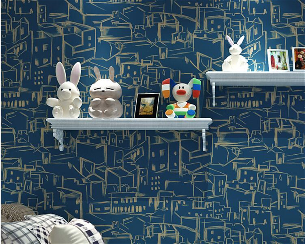 beibehang papel de parede Mediterranean children's room wallpaper living room bedroom background wallpaper for walls 3 d tapety beibehang vertical striped embroidery diamond in the mediterranean bedroom living room wallpaper tv wall papel de parede