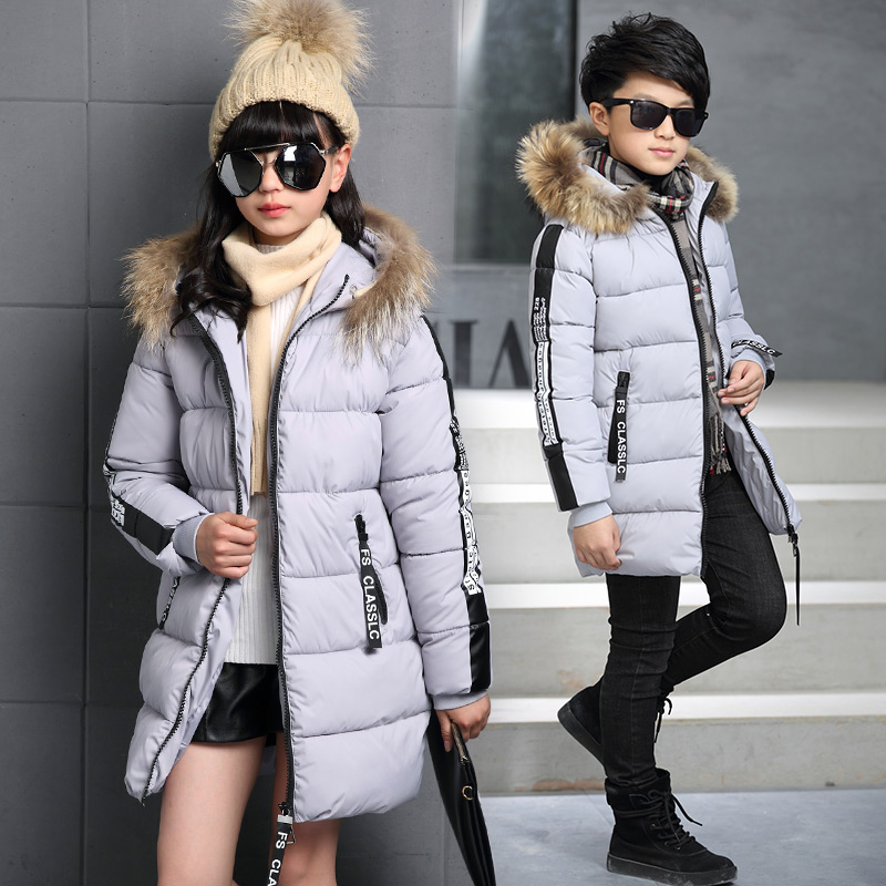 girls and boys winter coats cotton children parka thick cotton-padded hooded winter jackets for girls children long outerwears 2017 boys winter jackets coats fashion hooded warm winter jacket for boys kids cotton outerwears coats for 10degree boys parkas