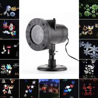 12 Types Christmas Halloween Laser Snowflake Projector Outdoor LED Lamp Waterproof Dj Disco Lights Home Garden