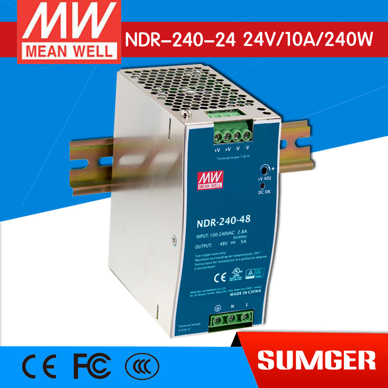 [Only on 11.11] MEAN WELL original NDR-240-24 24V 10A meanwell NDR-240 24V 240W Single Output Industrial DIN Rail Power Supply only a promise