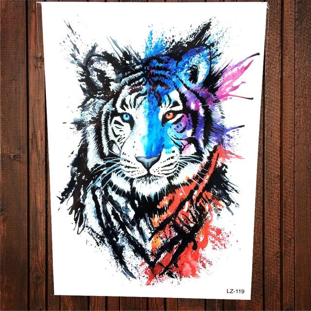 Majestic Paiting Colorido Tigre Tatuaje Temporal Pegatina Hombres