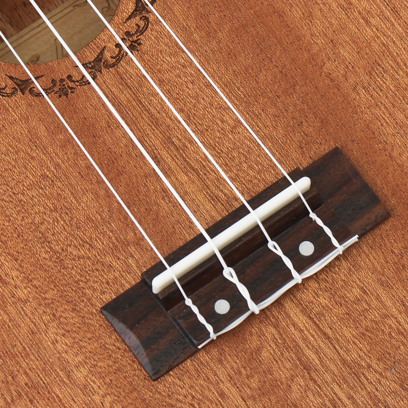 21 inčni 15 fretova mahagoni sopran ukulele gitara sapele ružino - Glazbeni instrumenti - Foto 4