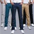Odinokov brandMen pantalones 2017 Nuevos pantalones casuales de la moda los hombres nuevo diseño de alta calidad de algodón para hombre pantalones 8 colores