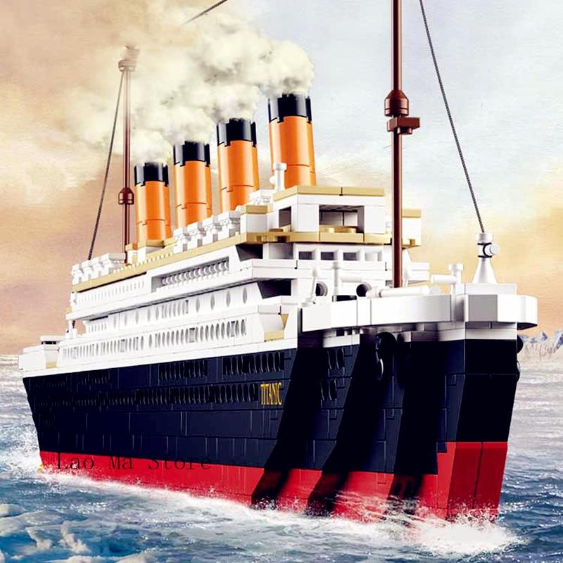Diy Model Building Kit City Titanic Rms Ship 3D Blocks Educational model building Toys Hobbies For Children Compatible L Brand