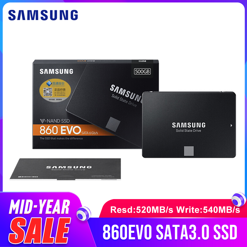 SAMSUNG 860 EVO Internal SSD 250GB 500GB <font><b>1TB</b></font> 2TB 4TB Solid State Disk <font><b>HD</b></font> Hard Drive SATA3 2.5 for Laptop <font><b>Desktop</b></font> PC image