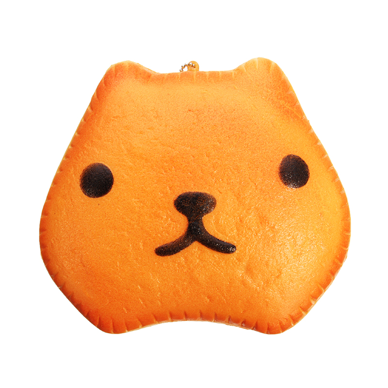 Capybara 12cm Slow Rising With Ball Chain Tag Cake Bread Collection Gift Decoration Stress Reliver Toy