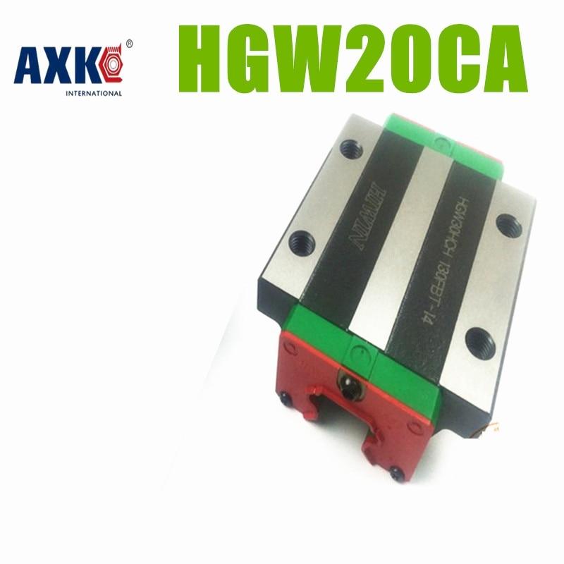 AXK New Original HIWIN Linear rail carriage HGW20CA  ( HGW20CC ) block # match for HGR20 Guideway original 2pcs lot hiwin linear rail carriage hgh20ca match with hgr20 guideway