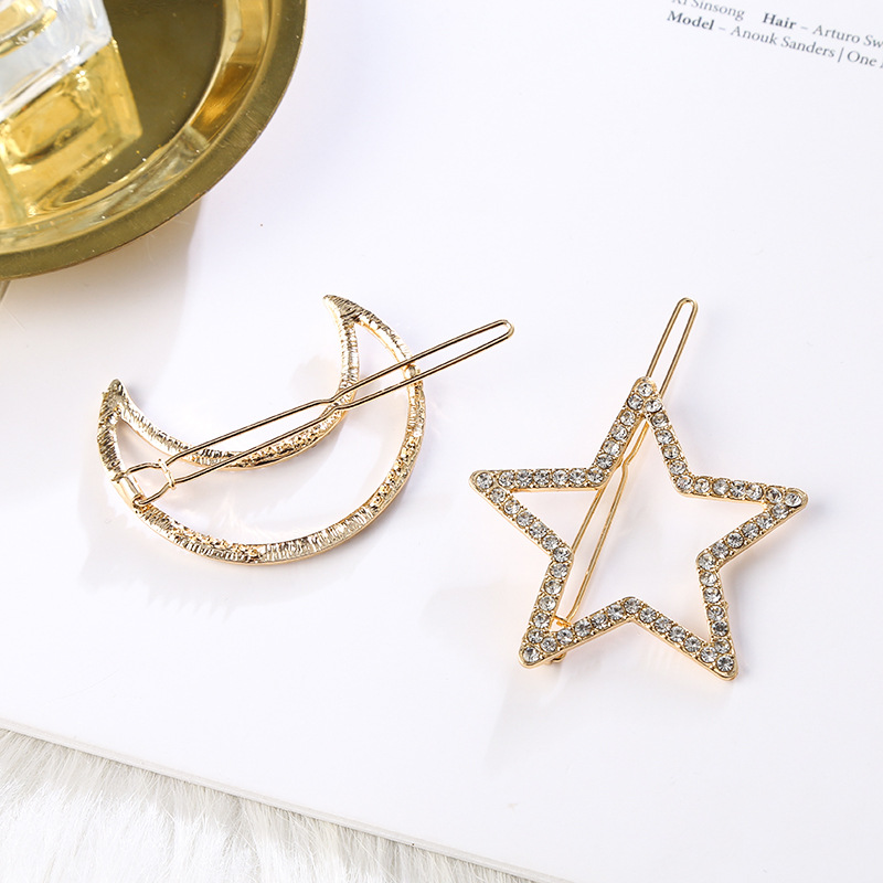 Girls Five pointed Star Moon Hairpins Hair Clips Hairgrip Hair Accessories Barrettes Jewelry Women Hair PinsHair Accessories in Women 39 s Hair Accessories from Apparel Accessories