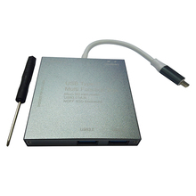 1x YC-301 Aluminum Alloy Type-c ssd Mobile Hard Disk Box Multi-function ngff solid state hard drive